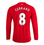 2015-16 Liverpool Home Long Sleeve Shirt (Gerrard 8) - Kids