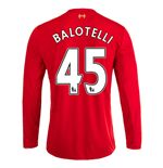 2015-16 Liverpool Home Long Sleeve Shirt (Balotelli 45)
