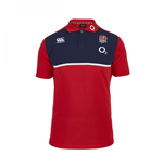 2015-2016 England Rugby Cotton Training Polo Shirt (Red)