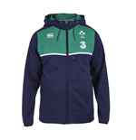 2015-2016 Ireland Rugby Training Full Zip Hoody (Navy)