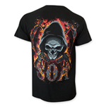 SONS OF ANARCHY Flaming Skull Tee Shirt