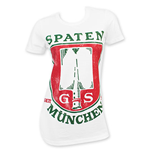 SPATEN Munchen Women's White Beer Logo T-Shirt