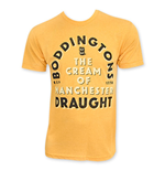 BODDINGTONS Men's Yellow Draught Beer T-Shirt