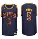 Mens Cleveland Cavaliers J. R. Smith adidas Navy Blue New Swingman CavFanatic Jersey