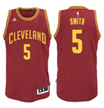 Mens Cleveland Cavaliers J. R. Smith adidas Garnet New Swingman Road Jersey