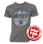 BUSCH Pop Top Men's Gray T-Shirt