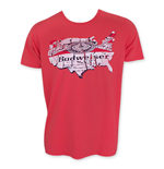 BUDWEISER Junk Food Red Map T-Shirt
