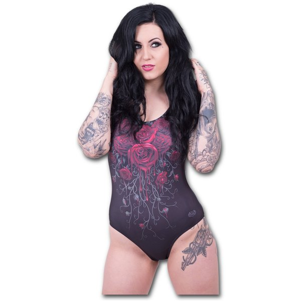Blood Rose - Allover Scoop Back Padded Swimsuit