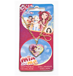 Mia And Me Necklace with Heart-shaped Photo Locket and Unicorn Tear