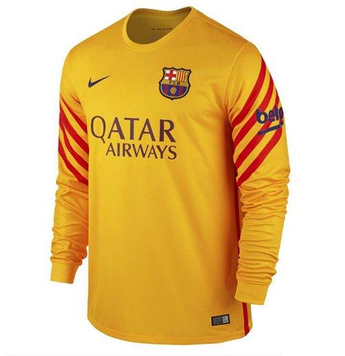 93fcd4450 Buy 2015-2016 Barcelona Home Nike Goalkeeper Shirt (Gold) - Kids