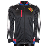 2015-2016 FC Basle Adidas Anthem Jacket (Black)
