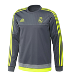 2015-2016 Real Madrid Adidas Sweat Top (Grey)