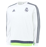 2015-2016 Real Madrid Adidas Sweat Top (White) - Kids