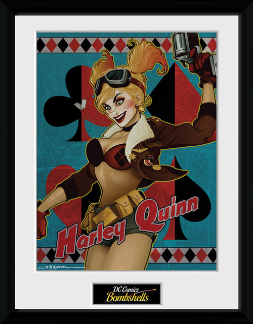 DC Comics Harley Quinn Framed Collector Print