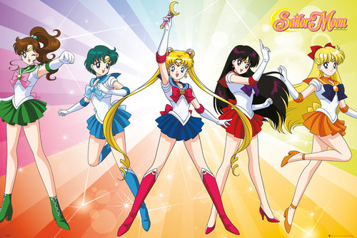 Sailor Moon Rainbow Maxi Poster