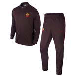 2015-2016 AS Roma Nike Knit Tracksuit (Mahogany) - Kids