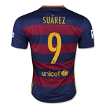 2015-16 Barcelona Home Shirt (Suarez 9) - Kids