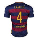 2015-16 Barcelona Home Shirt (I.Rakitic 4) - Kids