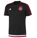 2015-2016 Ajax Adidas Training Shirt (Black) - Kids