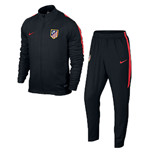 2015-2016 Atletico Madrid Nike Woven Tracksuit (Black)