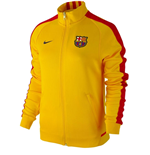 2015-2016 Barcelona Nike Womens N98 Jacket (Gold)