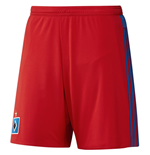 2015-2016 Hamburg Adidas Home Shorts (Red) - Kids