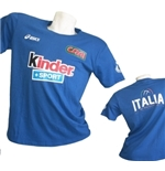 Italia Volley Light Blue Fan T-SHIRT 2015/2016