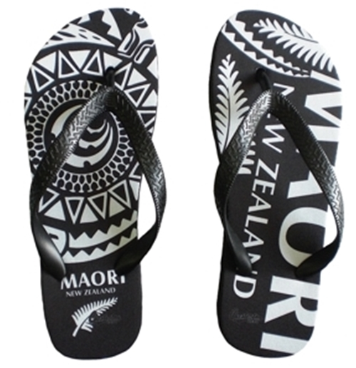 All Blacks Flip Flops - Tribal