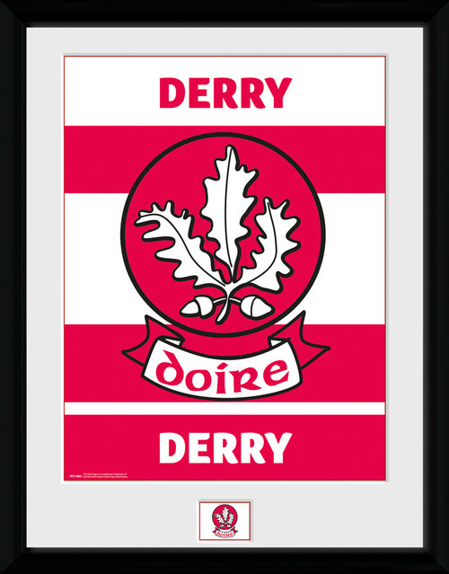 GAA Derry Framed Collector Print