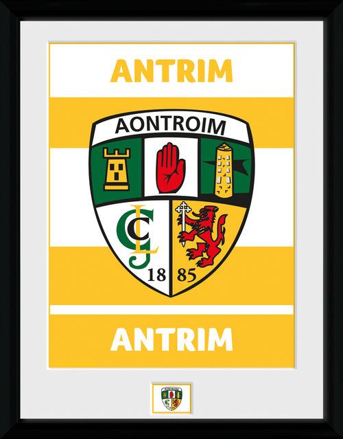 GAA Antrim Framed Collector Print