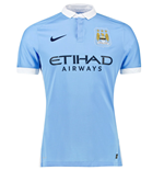 2015-2016 Man City Authentic Home Nike Shirt