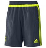 2015-2016 Real Madrid Adidas Woven Shorts (Grey) - Kids