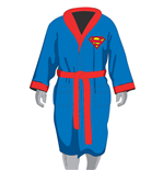 DC Comics Fleece Bathrobe Superman Glow in the Dark