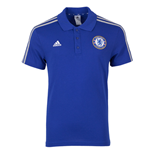 2015-2016 Chelsea Adidas 3S Polo Shirt (Blue)