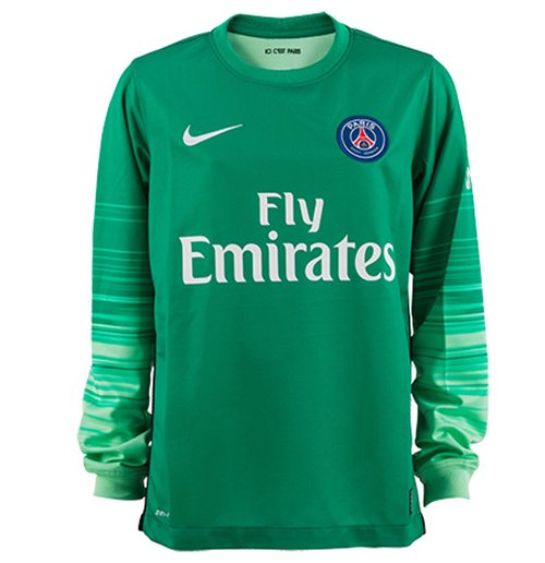 best service 5de13 464cb 2015-2016 PSG Home Nike Goalkeeper Shirt (Green)