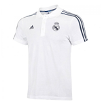 2015-2016 Real Madrid Adidas 3S Polo Shirt (White)