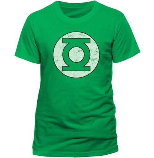 official green lantern t shirt distressed logo buy. Black Bedroom Furniture Sets. Home Design Ideas