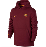 2015-2016 AS Roma Nike Core Hooded Top (Red) - Kids