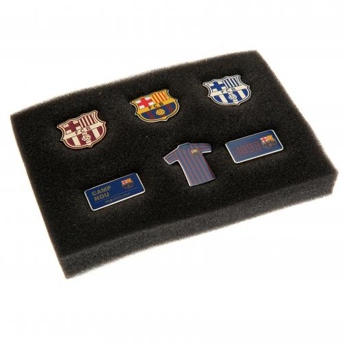 F.C. Barcelona 6 Piece Badge Set