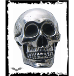 Small skull for decoration in silver col