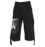 Wolf Chi - Vintage Cargo Shorts 3/4 Long Black