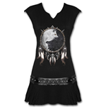 Wolf Chi - Stud Waist Mini Dress Black