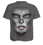 Death Mask - T-Shirt Charcoal