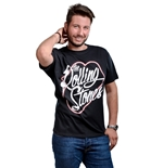 The Rolling Stones T-shirt Neon Lips Script