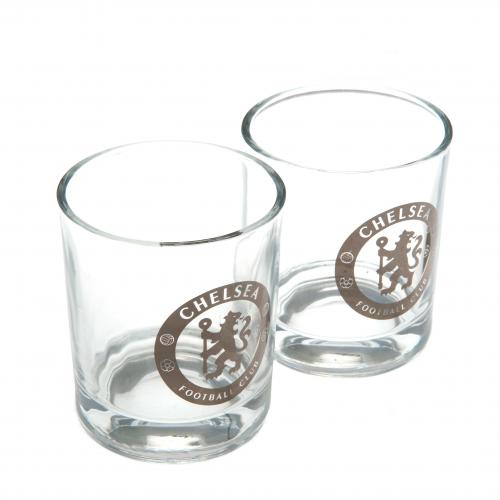 Chelsea F.C. 2pk Whiskey Glass Set