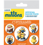 Minions Pin Badges 4-Pack