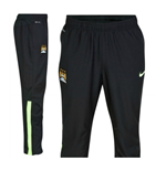 2014-2015 Man City Nike Woven Pants (Black-Lime)