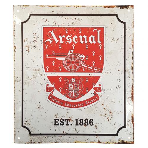 Arsenal F.C. Retro Logo Sign