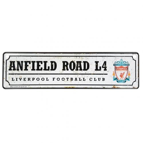 Official Liverpool F C Retro Window Sign Buy Online On Offer