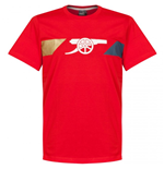 2015-2016 Arsenal Puma Cannon Fan Tee (Red)